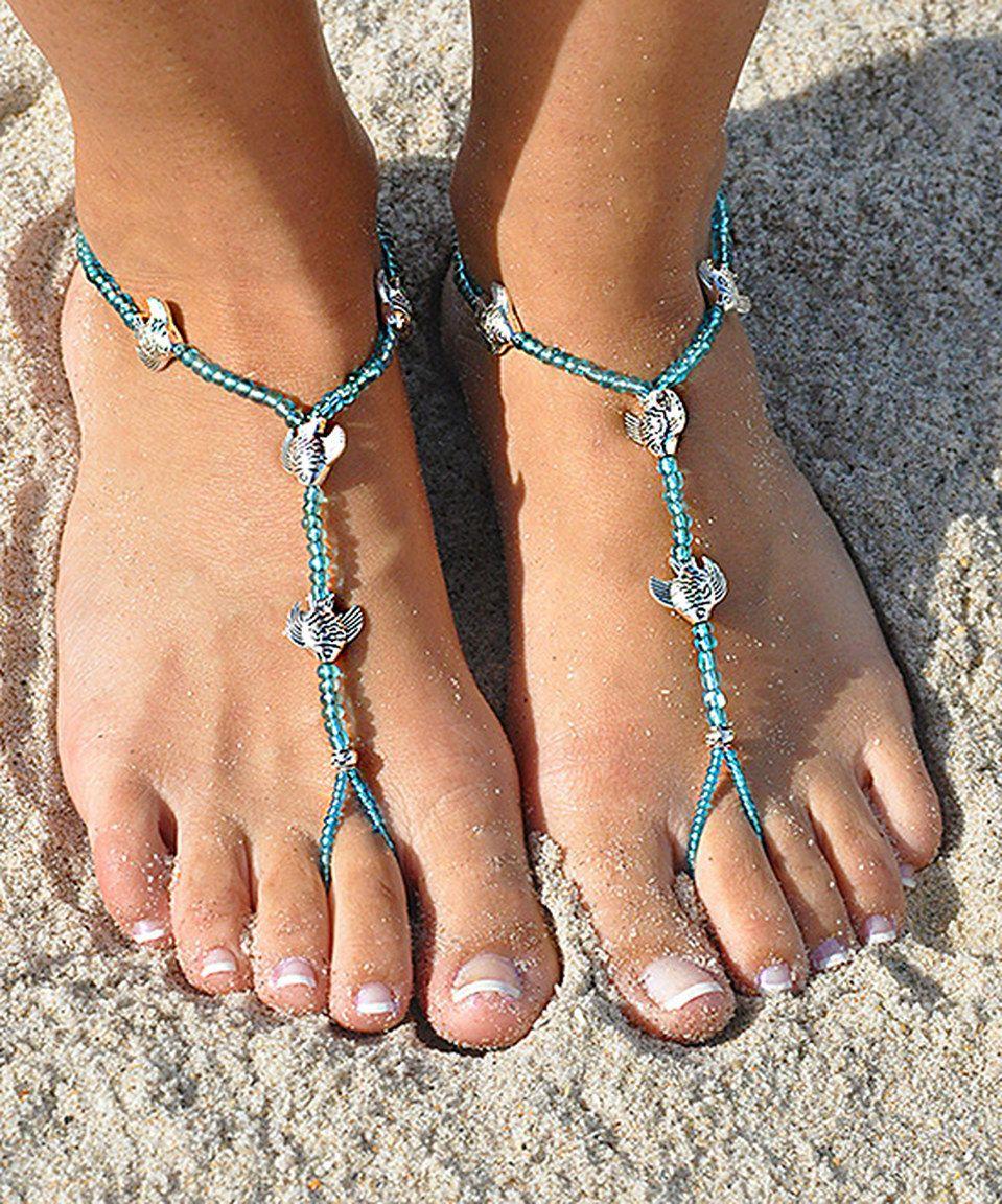 SunSandals Clear & Light Blue Bone Fish Barefoot Sandals by SunSandals #zulily #zulilyfinds