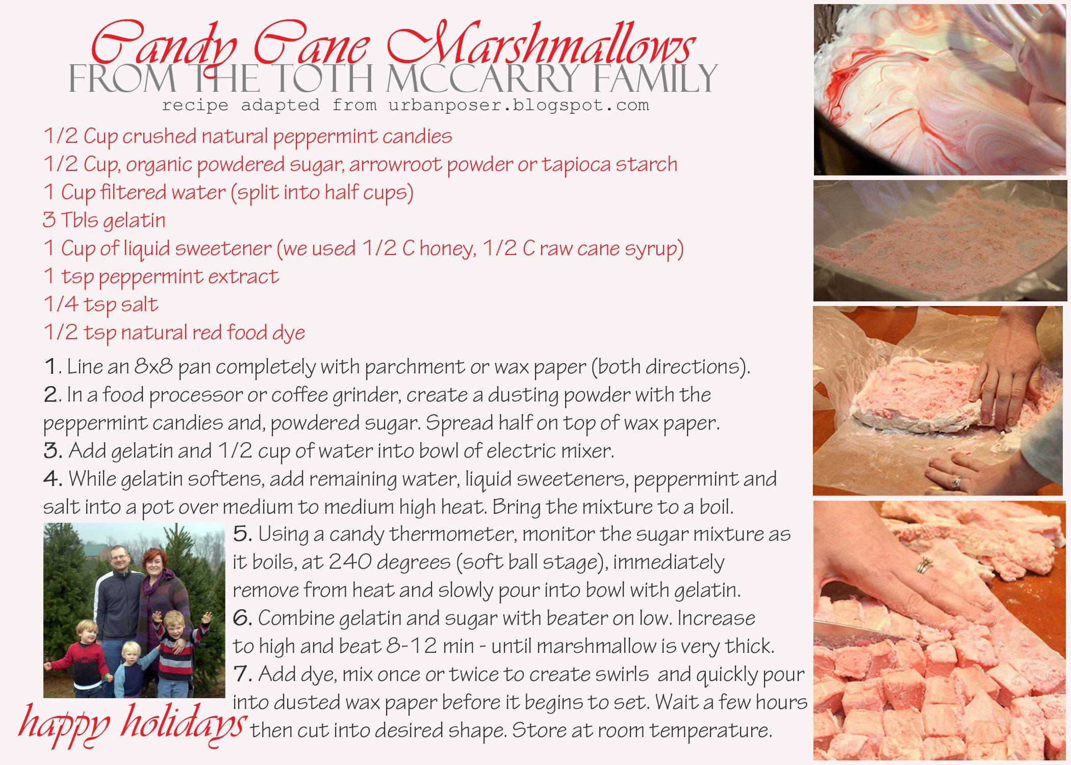 Candy Cane Marshmallows by @PaleoParents (Adapted from @TheUrbanPoser)