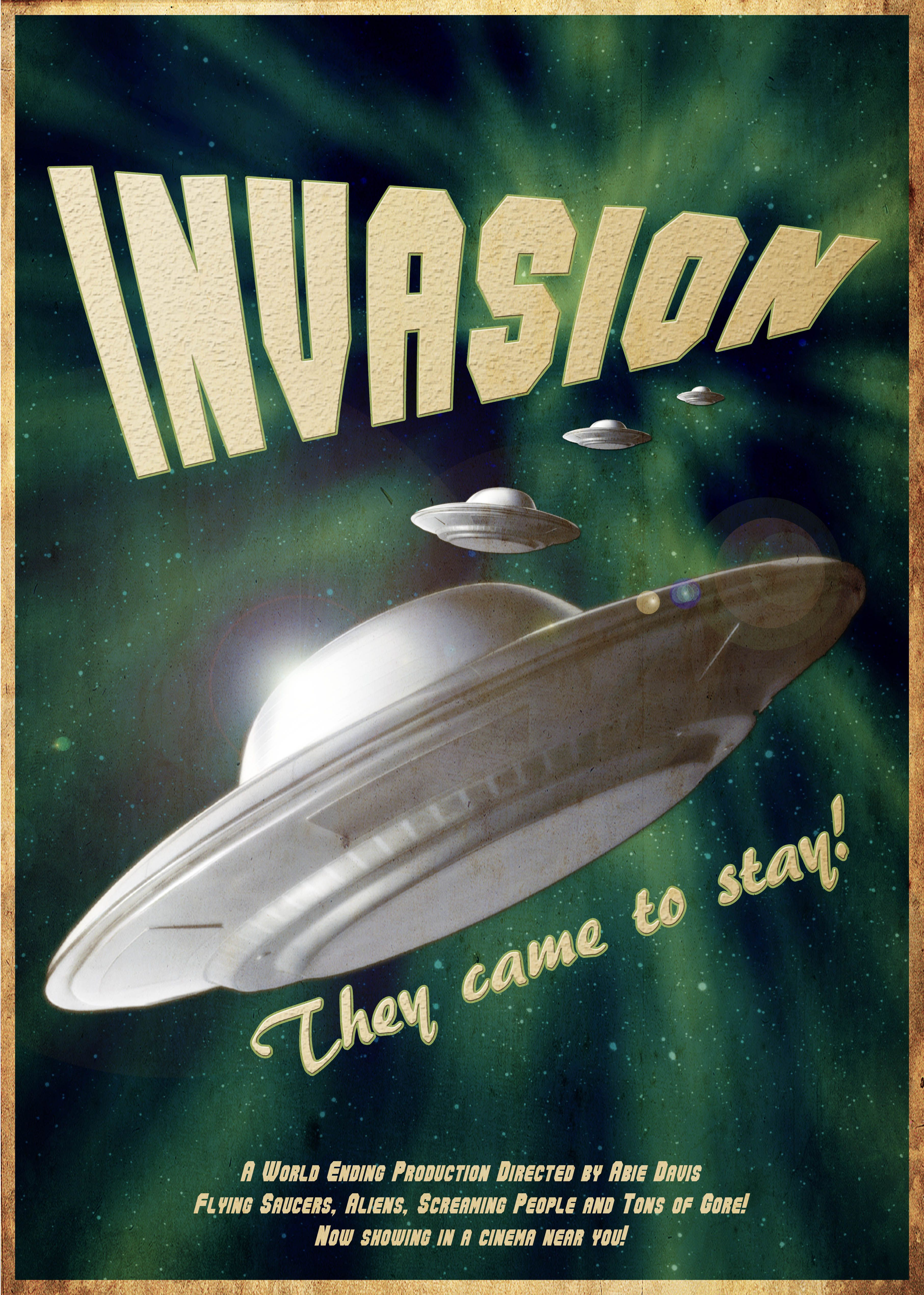 UFO-Invasion-Vintage-Sci-Fi-Poster-by-Abie-Davis-The-Minion ...