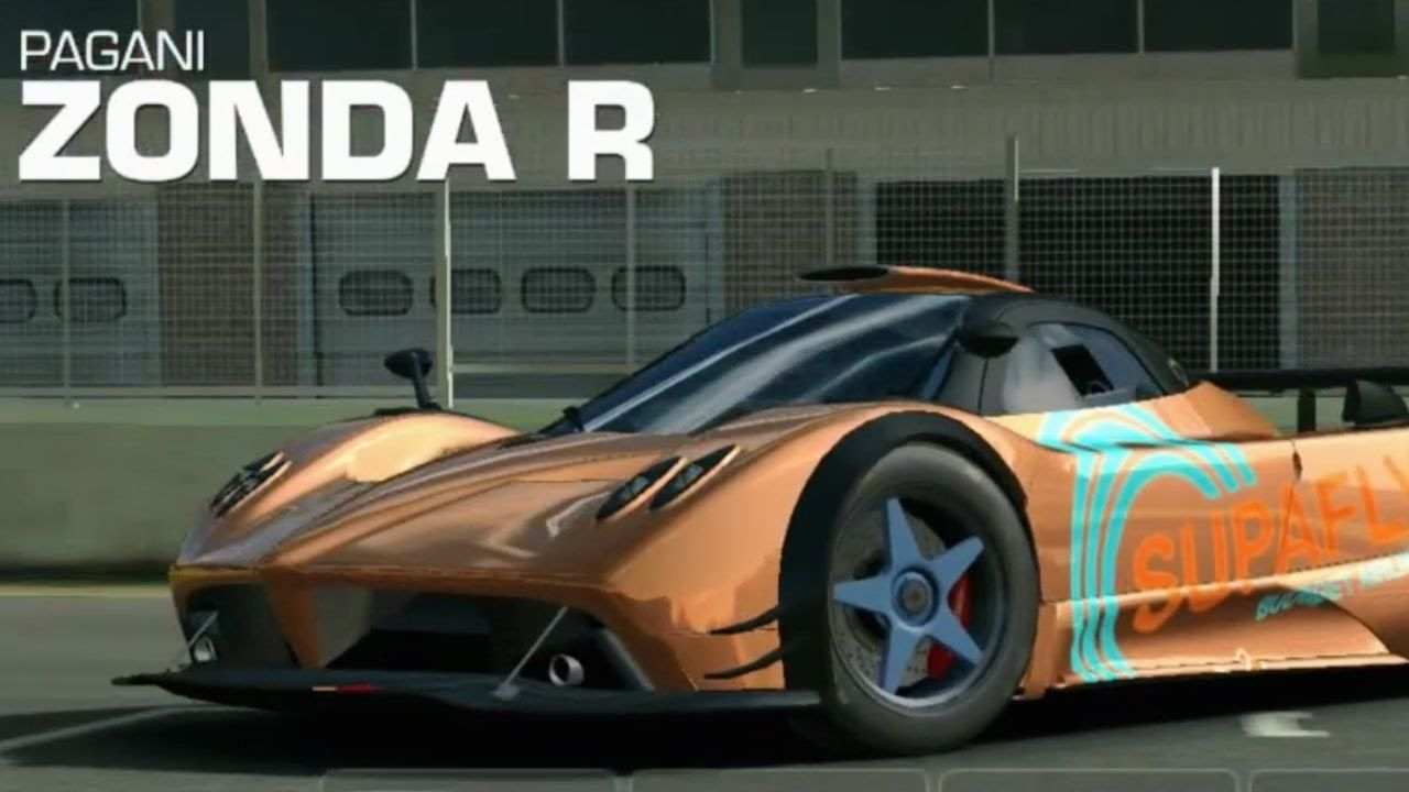 Real Racing 3 Pagani Zonda R - mobile iOS Android cars racing game
