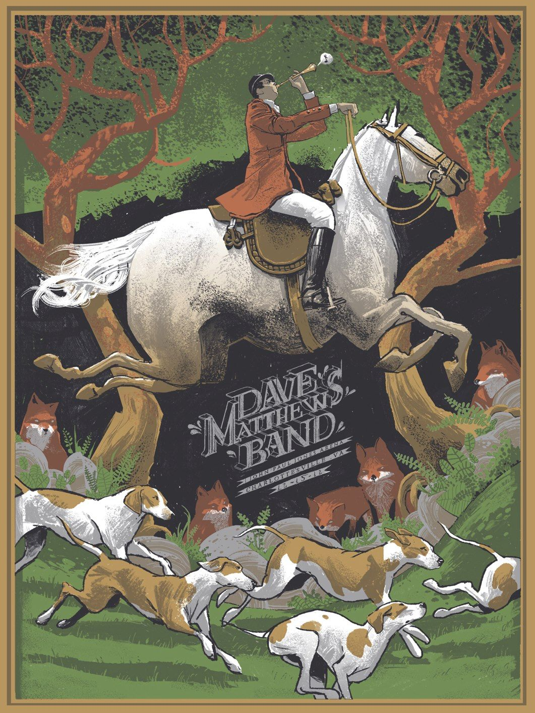 Dave Matthews Band Charlottesville show poster Rich