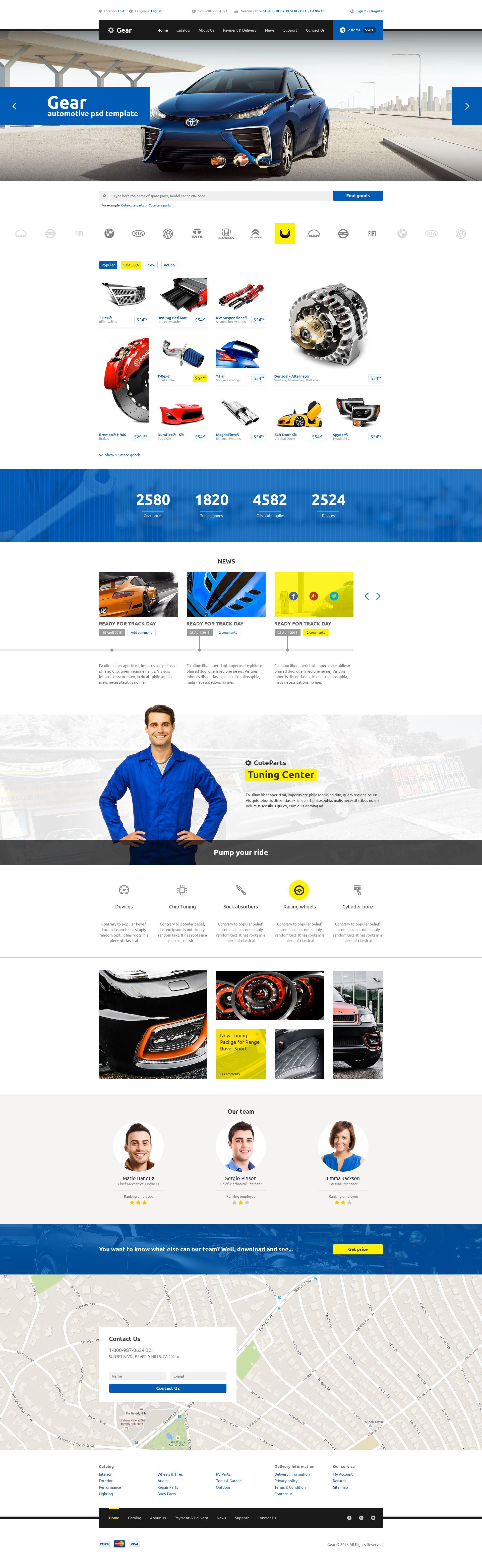 Gear — Automotive Business & Auto Parts Store PSD Template ...