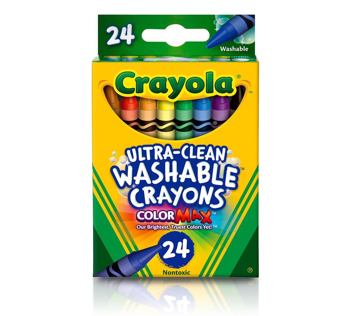 Box 24 Assorted Crayola Washable Crayons