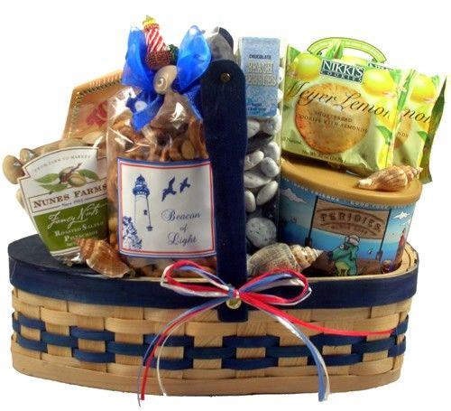 Sailing Away Nautical Gourmet Gift Basket At Gift Baskets