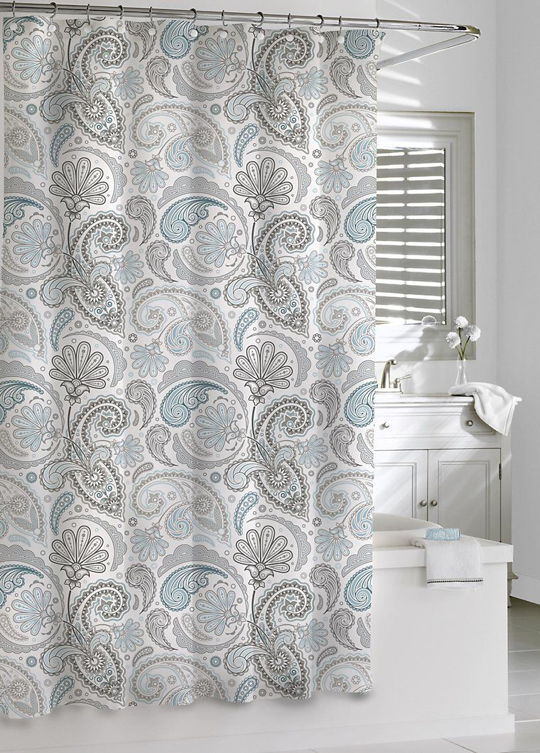 Luxury Shower Curtains - Paisley Shower Curtain by Kassatex ...