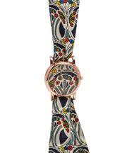Large Mauverina Print Knot Rose Watch . Liberty London