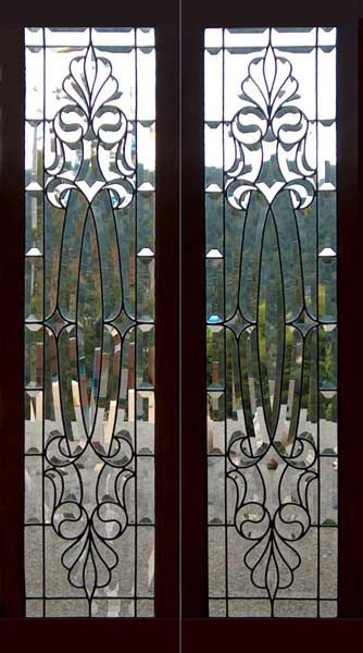 Victorian antique beveled glass windows