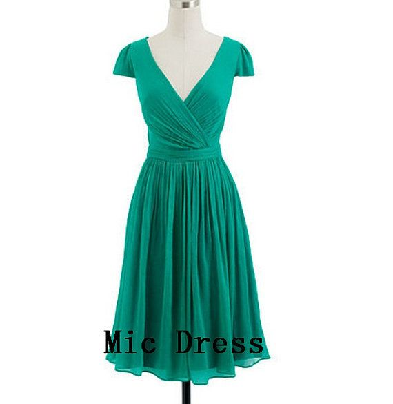 Mic Dresses Short V-Neck a Line