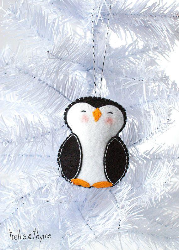 PDF Pattern - Little Penguin, Winter Felt Ornament Pattern ...