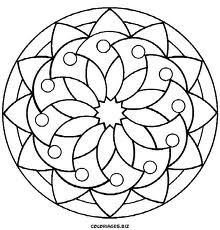 simple mandala - Simple Mandala Coloring Pages Kid