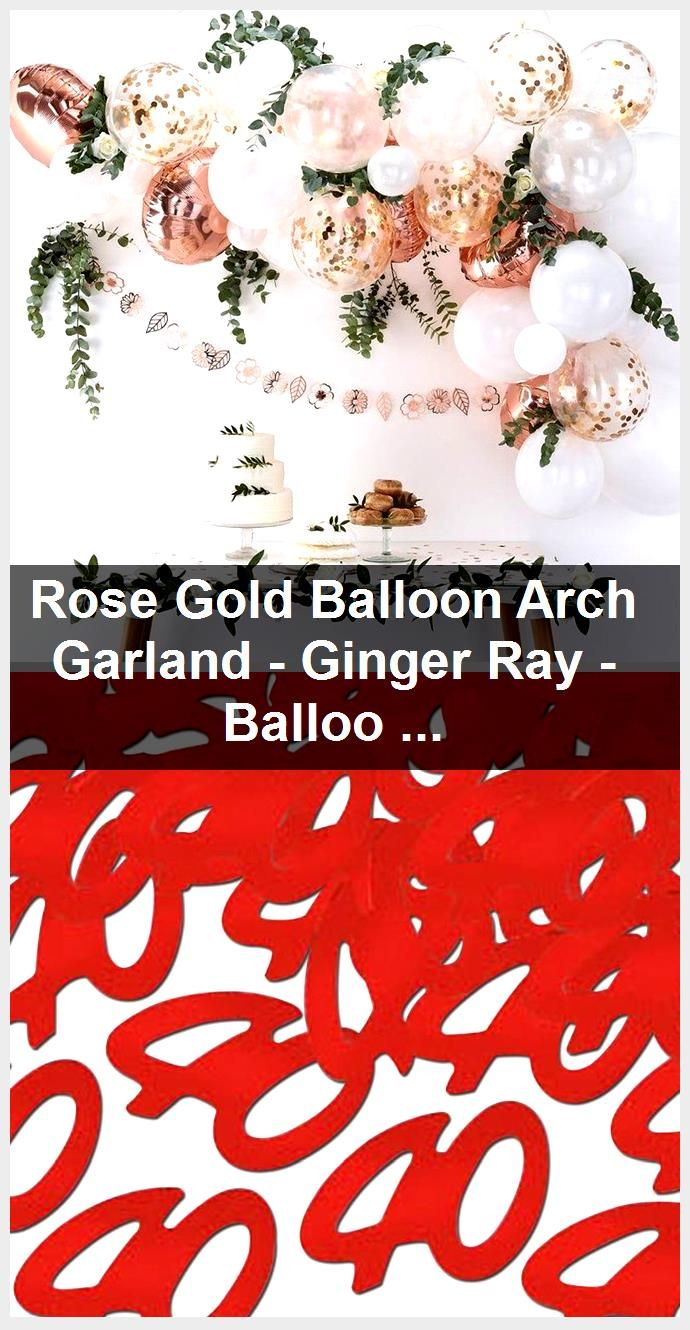 Rose Gold Balloon Arch Garland - Ginger Ray - Balloon Garlands - Balloon Backdrops - Wedding ... #balloonarch