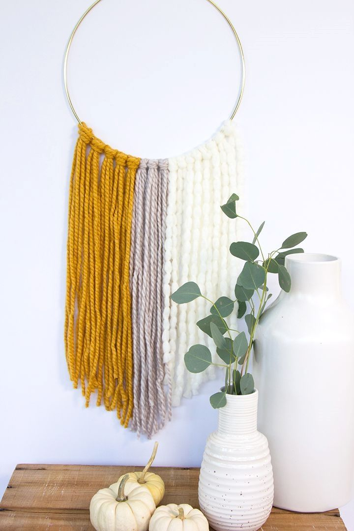 Photo of DIY Simple Yarn Wall Hanging