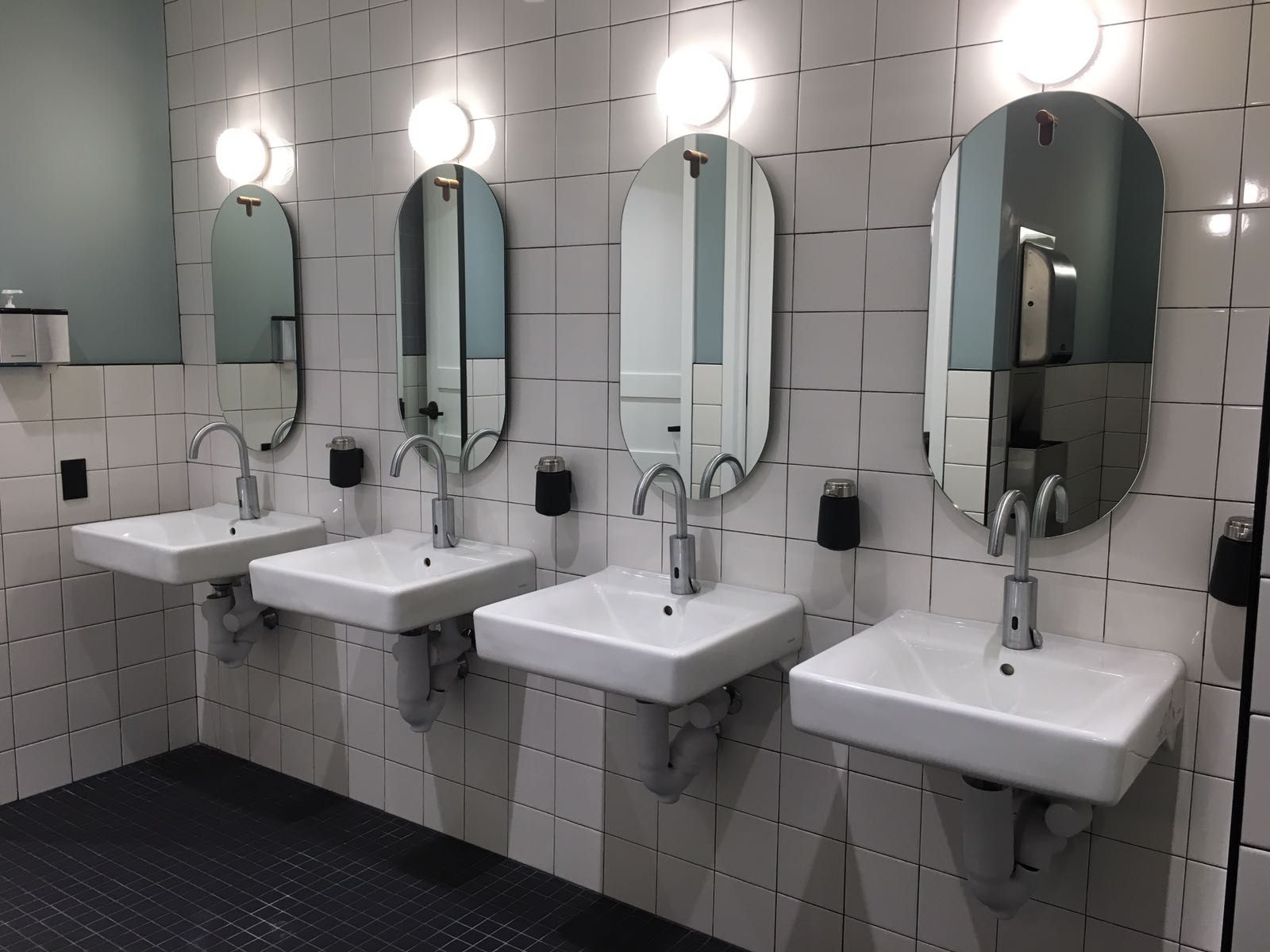 Location Wework Nyc Installation Stern S Dolphin 1000 Electronic Lavatory Faucet Operated By Ir Sensor Complete Wi Commercial Faucets Lavatory Faucet Faucet [ 1200 x 1600 Pixel ]