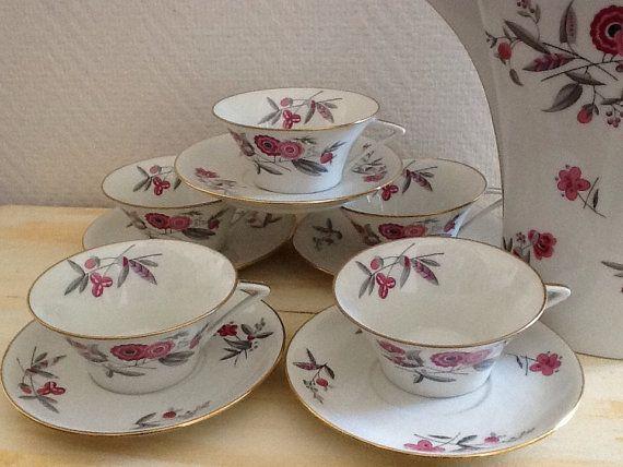 Charming Vintage Limoges Coffee Or Teapot Service Set Porcelain
