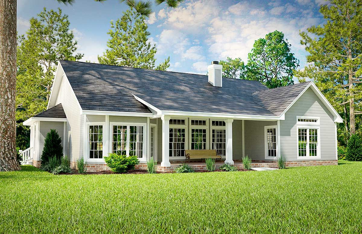 Plan 31093d Great Little Ranch House Plan Country Style
