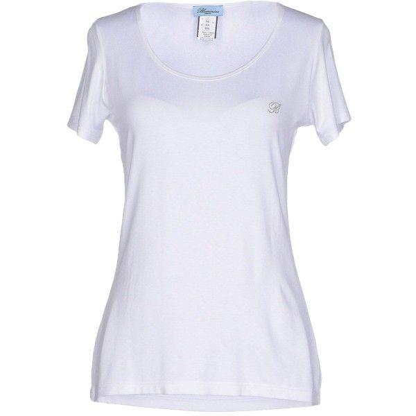 Blumarine Underwear Undershirt ($24) ❤ liked on Polyvore featuring tops, white, white top, blumarine top, rhinestone tops, white jersey and blumarine