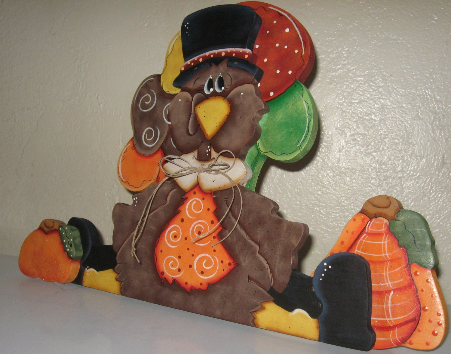 Thanksgiving turkey decor - Thanksgiving Shelf Sitters Turkey Decor Table Centerpieces Holiday Shelf Sitters Give Thanks