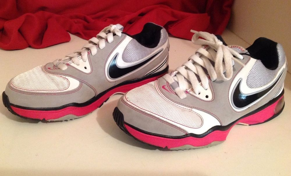 1c8f26470c2 Nike Air Compete TR Leather Pink White Black Athletic Training Shoes Womens  sz 7  Nike  RunningCrossTraining