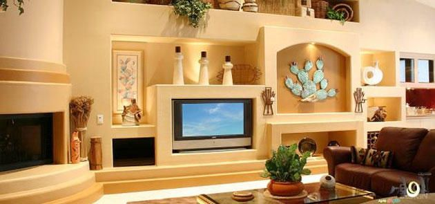 gypsum-board-tv-wall-unit-that-will-charm-you | DIY Home Deco & Tips ...