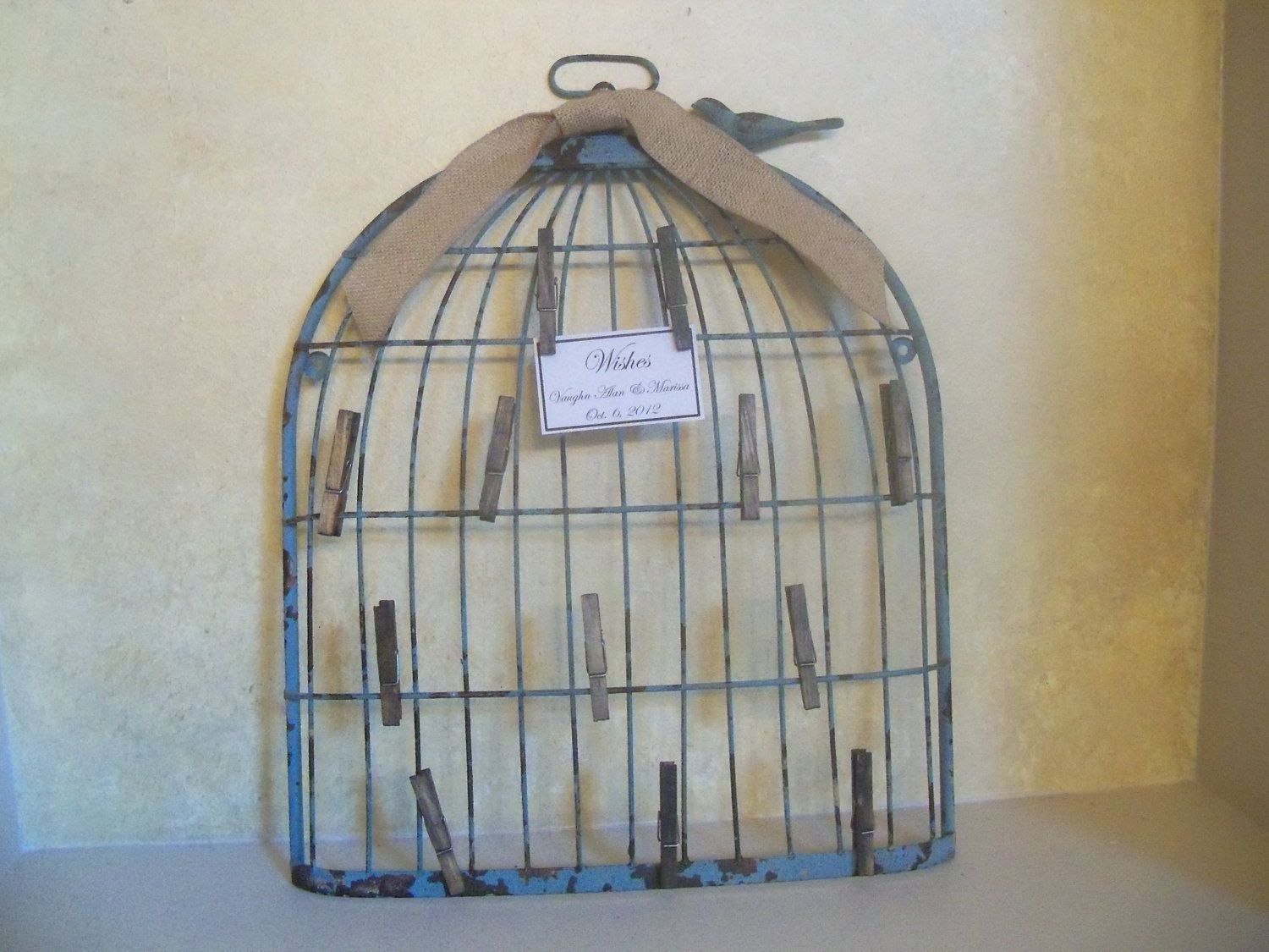 Shabby Chic Birdcage Wedding Wishes Card Holder Wedding Guest