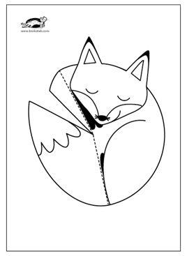 Krokotak Paper Fox 2020 Boyama Sayfalari Tilki Hayvanlar