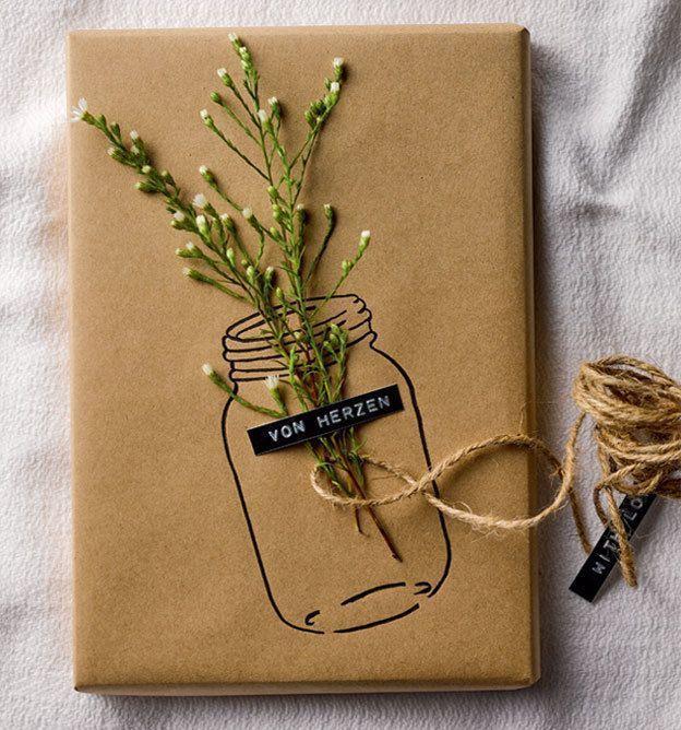 Schenken Grüßen und Verpacken mit Kraftpapier kreativkompakt   Fieseln ideen #basteln #ideen #kraftpapier #kreativkompakt #schenken #verpacken #cartedevoeuxoriginale