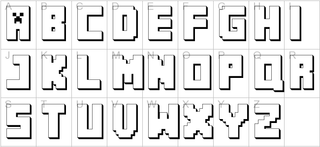 Clean image pertaining to free printable minecraft letters