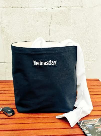 Wednesday Laundry Bag Men Storage Basket Car Organizer Bag Gift