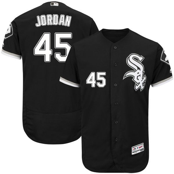 Chicago White Sox Michael Jordan Authentic Jersey  Black Flexbase  Collection Majestic  45 Mens MLB 0e7b01c5b