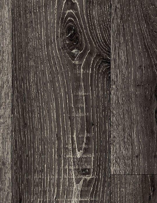 Sol vinyle TEXMARK, chêne noir scié, rouleau 4 m Saint Maclou