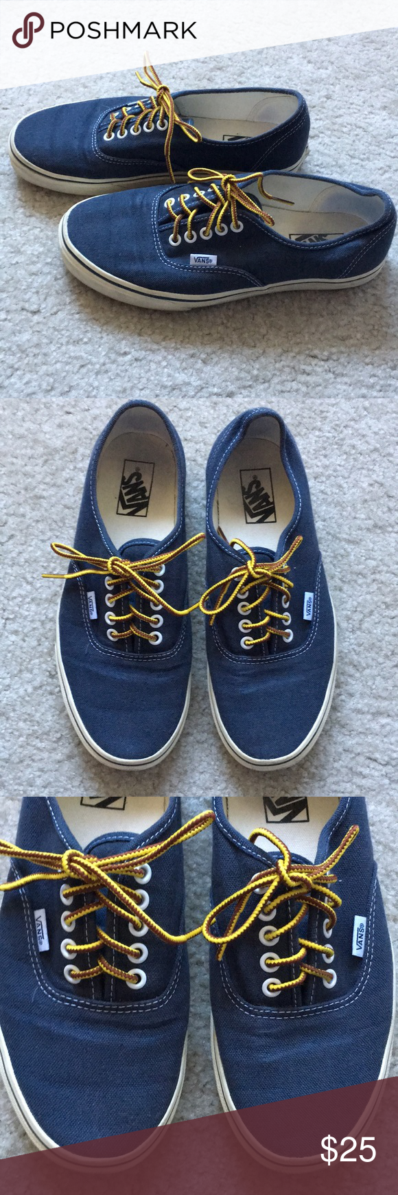 20342b27f576 Men s Vans for JCrew in Navy Washed Canvas Vans for JCrew item 17554. True  to size. Only worn a couple of times. This is a men s size 8.