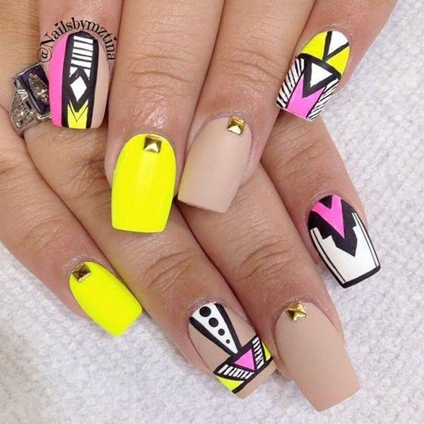 Image result for vibrant yellow nail art | nail-ed it | Pinterest ...