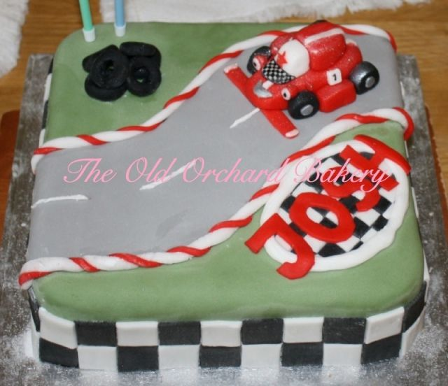 Cake for a young Roary the Racing Car fan.