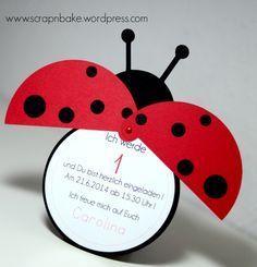 Marienkäfer - Ladybug - Party - Kindergeburtstag - Einladung - Invitation