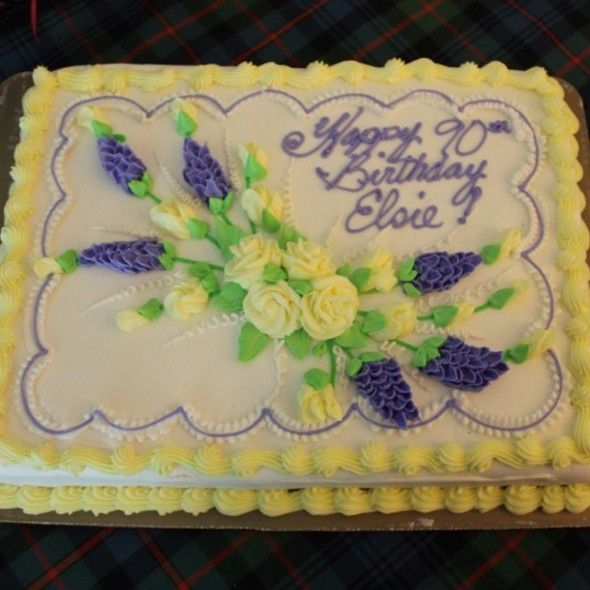 Floral Sheet Cake Buttercream Cakes In 2019 Birthday
