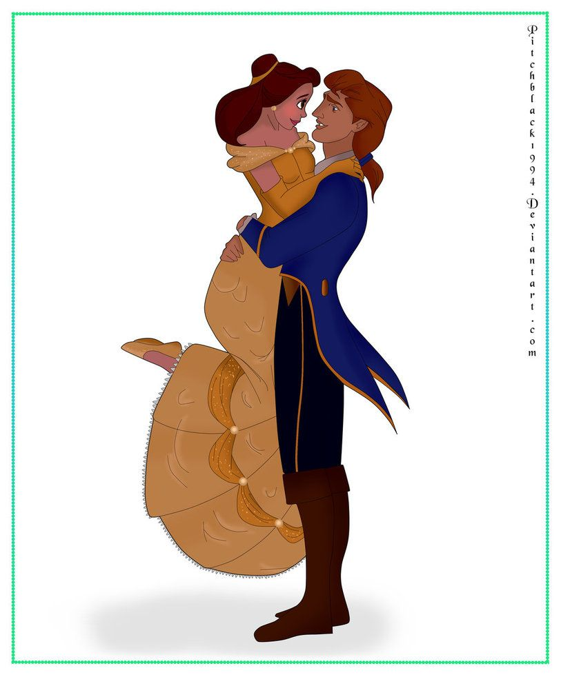 Princess Belle And Prince Adam Beauty And The Beast Gohana: Belle And Adam By Pitchblack1994.deviantart.com On