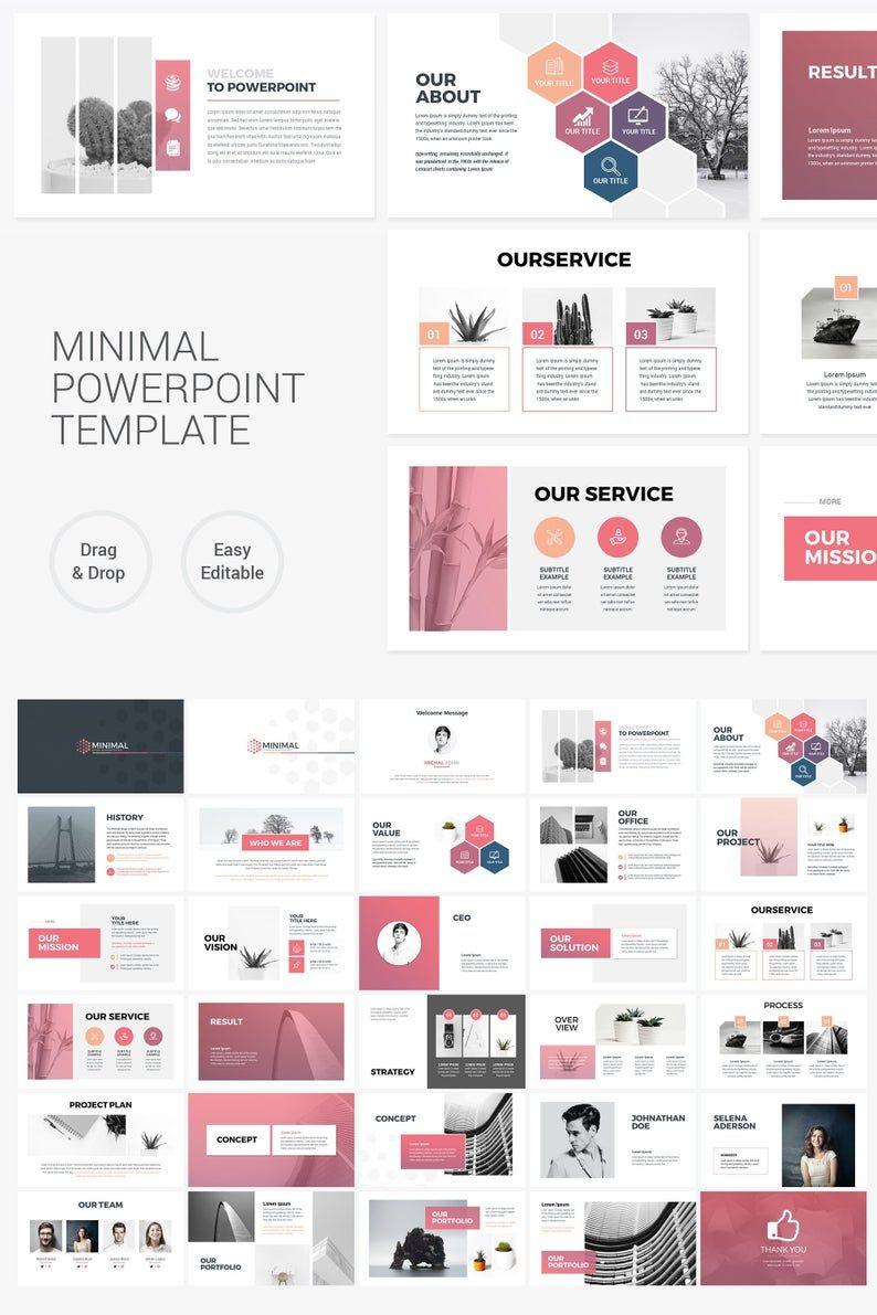Plantilla de presentación powerpoint mínima limpia