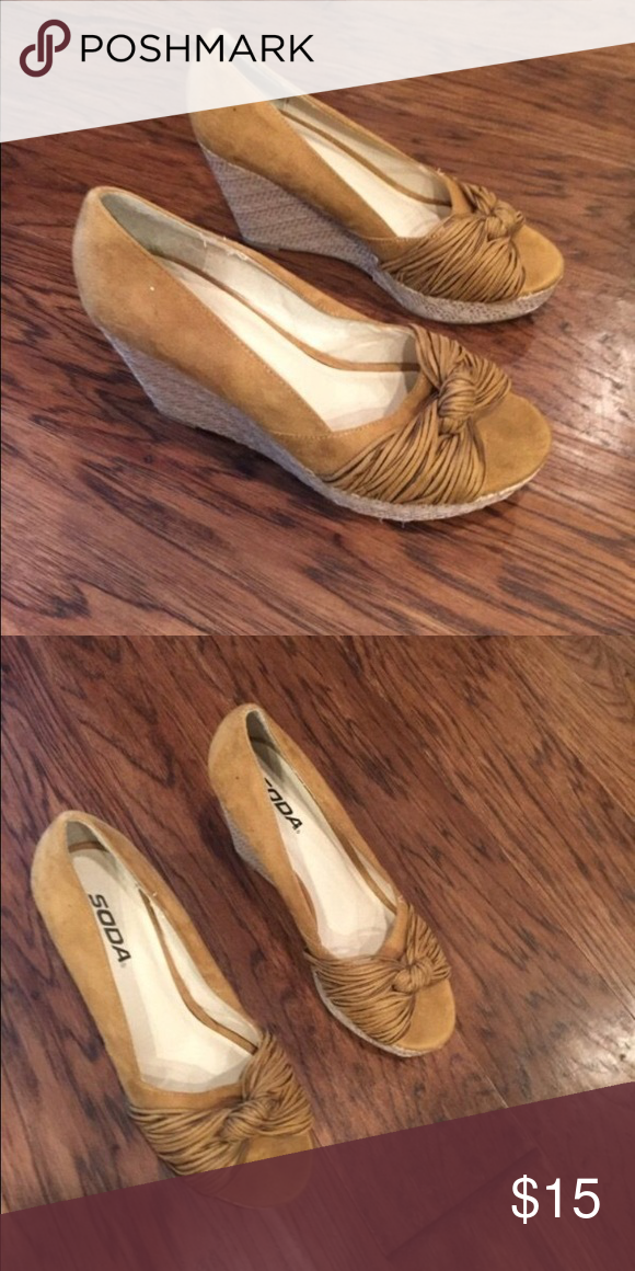 Shoes Brand new wedges never worn size 8 Soda Shoes Wedges
