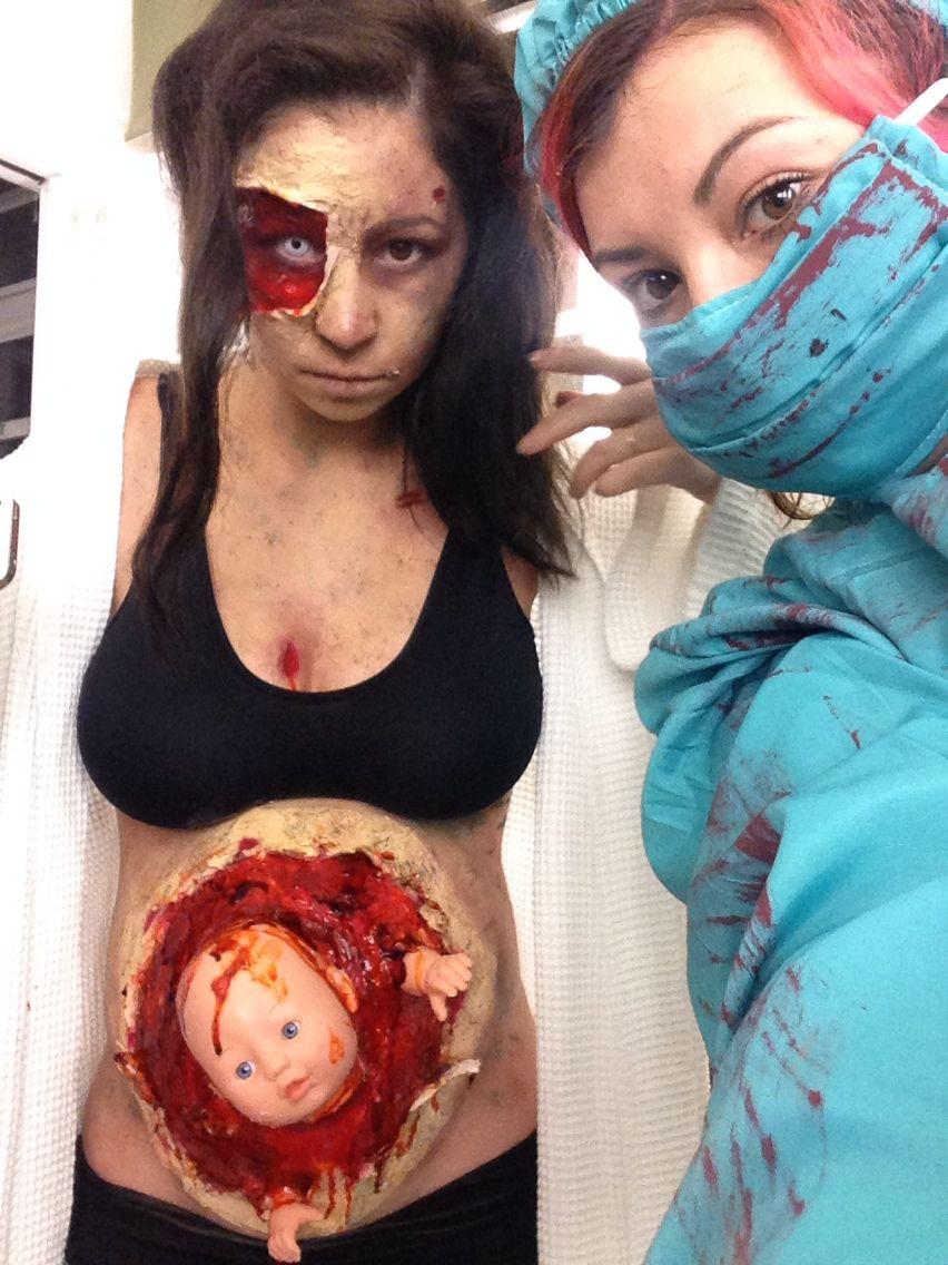 Pregnant Zombie Makeup Halloween Costumes Makeup Scary Makeup Halloween Make Up