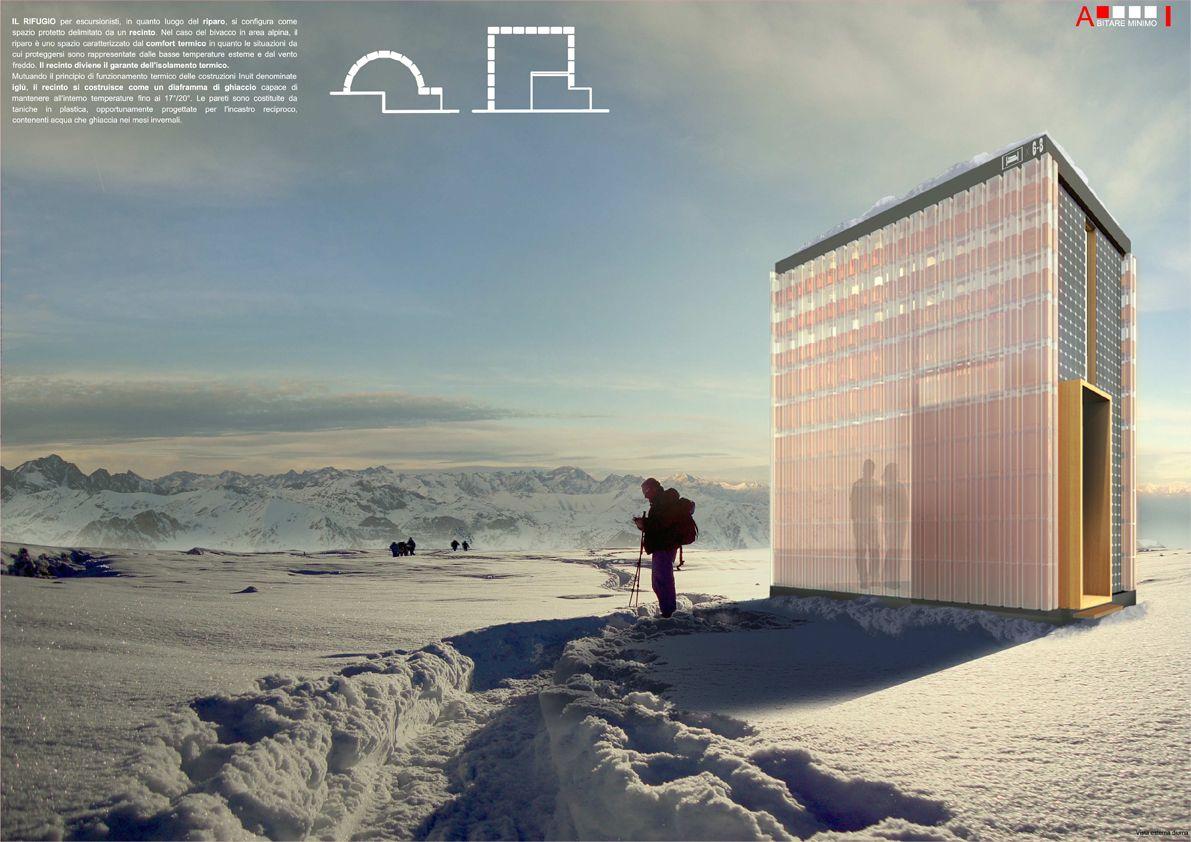 Progetto per un bivacco alpino sostenibile architettura for Architettura moderna case