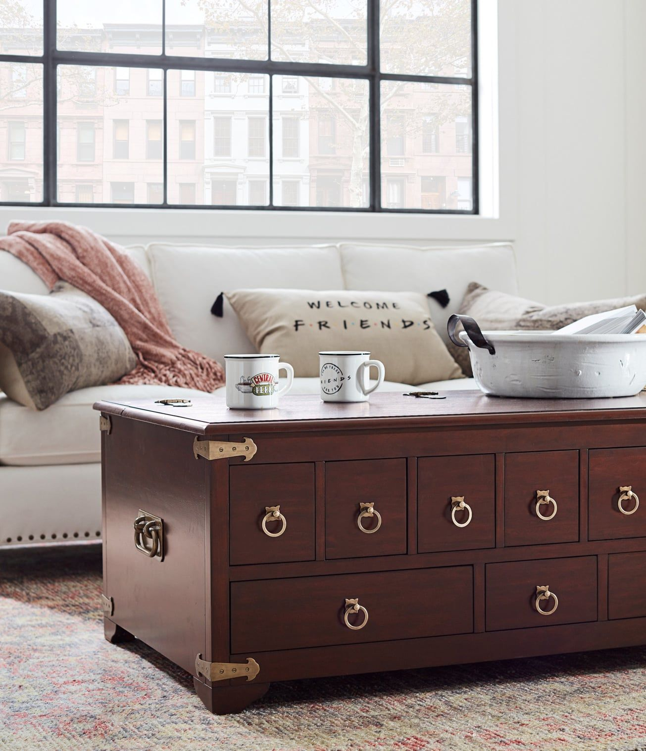 Pottery Barn Is Releasing A Friends Themed Collection And Phoebe Would Definitely Approve Pottery Barn Decor Furniture Collection Home Decor [ 1518 x 1305 Pixel ]