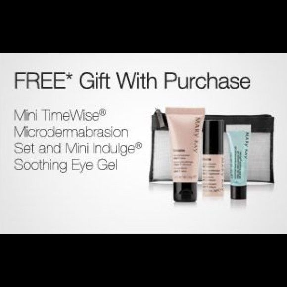 Mini Microdermabrasion & Soothing Eye Gel Set *Brand new in the bag!* Try this Mini Microdermabrasion Set before you purchase the full sized one! This set also come with a sample size tube of the Mary Kay Indulge Soothing Eye Gel! Mary Kay Other