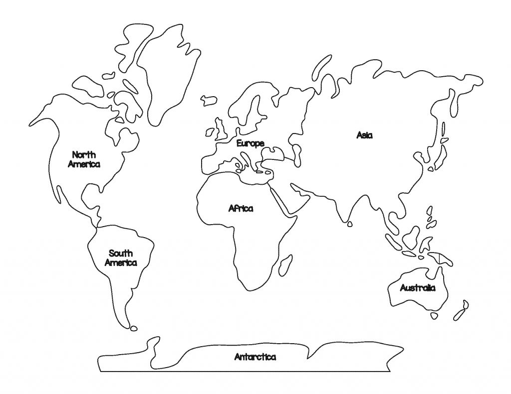 Great Image Of Continents Coloring Page World Map Coloring Page