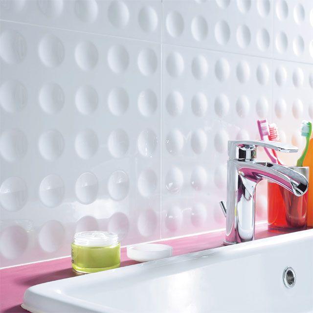 Carrelage mural noir balles 30 x 60 cm castorama salle de bain enfants b - Deco salle de bain enfant ...