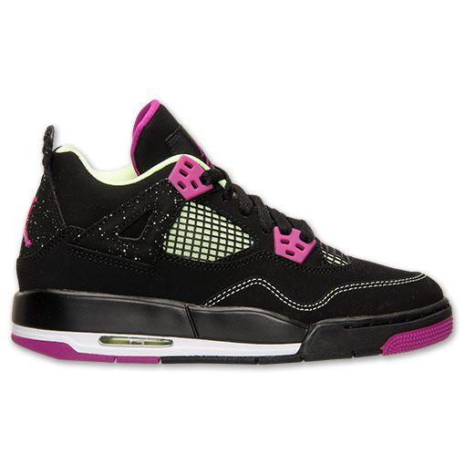 c2c19238336b44 Girls  Grade School Air Jordan Retro 4 (3.5y-9.5y) Basketball Shoes ...