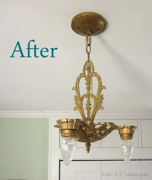 How To Restore An Old Ceiling Light Fixture Taking Art Deco Chandelier From Trash Treasure