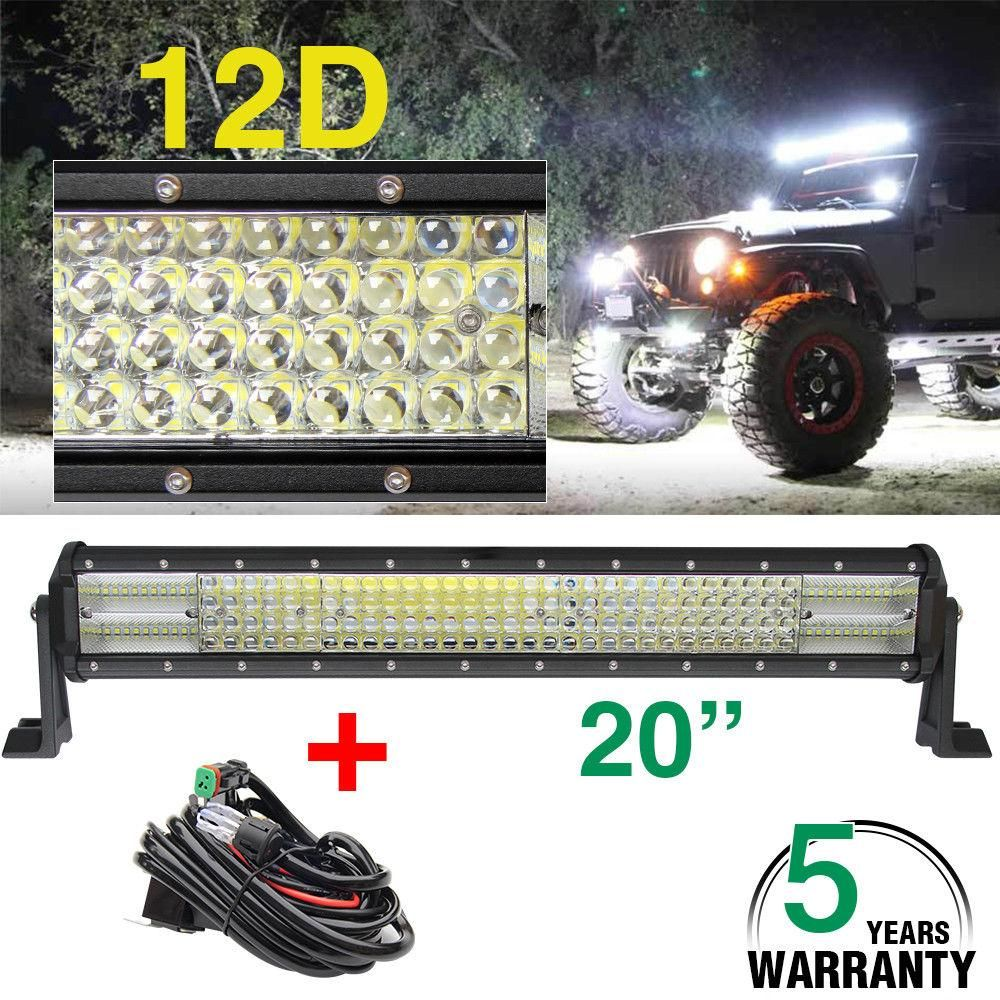 20 Inch 480w Led Light Bar 12d Combo Led Beams For Boat Car Tractor Truck 4x4 Atv Auto Driving Offroad Led Bar 1 Led Driving Lights Led Work Light Bar Lighting
