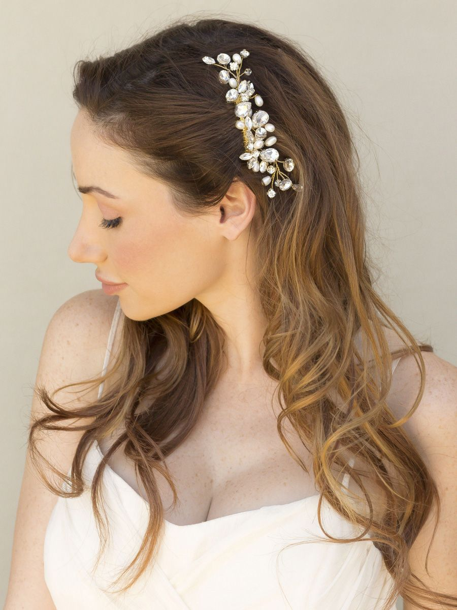 40+ simple wedding hair side pieces ideas