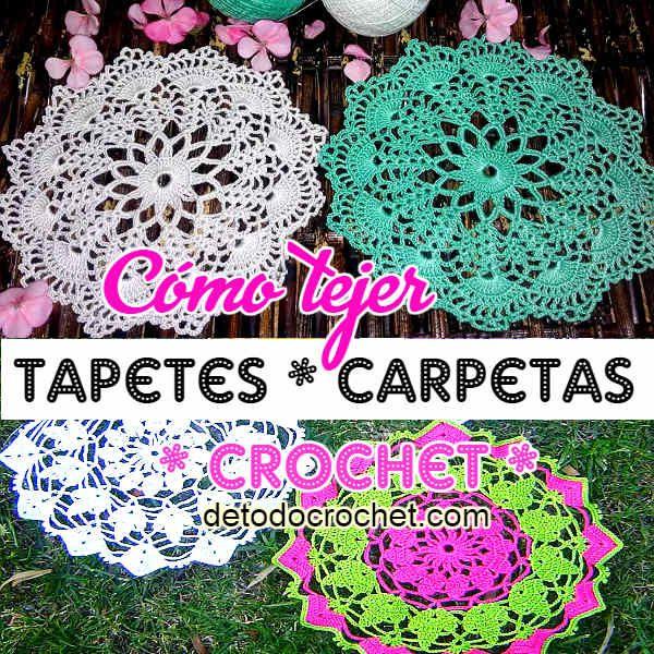 Todo crochet | Pinterest | Crochet fácil, Carpetas crochet y Cómo tejer