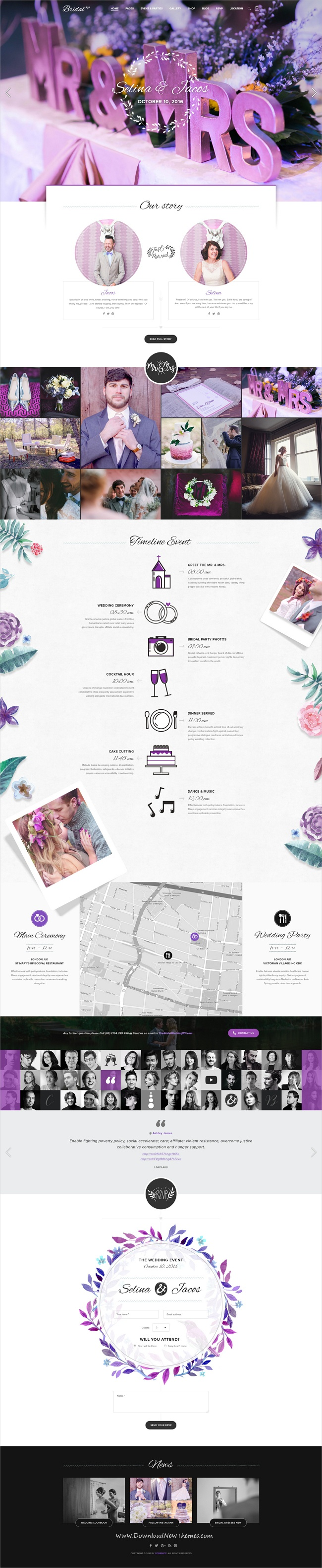 bridal wedding wordpress theme wordpress web layout and ui ux
